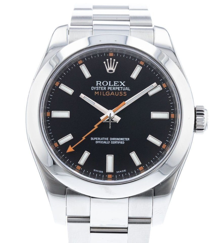 Rolex Milgauss Black Dial Stainless Steel NEW
