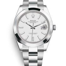Rolex Datejust Steel 41mm White No numerals