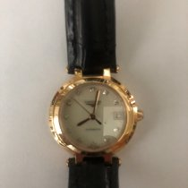 Longines PrimaLuna pre-owned 19mm Mother of pearl Date Leather