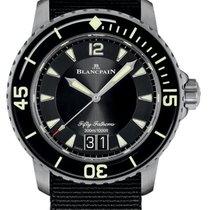 Blancpain Titan Automatik Schwarz 45mm neu Fifty Fathoms