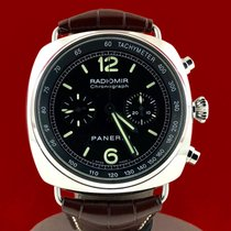 Panerai Radiomir Chronograph Stal 45mm Czarny Arabskie