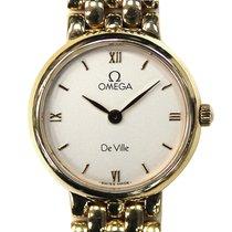 Omega pre-owned Quartz White Sapphire Glass