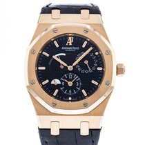 Audemars Piguet Royal Oak Dual Time Oro rosado 39mm Negro