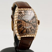 Franck Muller pre-owned Automatic 39mm Gold Sapphire crystal