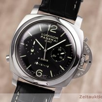 沛納海 Luminor 1950 8 Days Chrono Monopulsante GMT 鋼 45mm 黑色