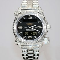 Breitling Emergency pre-owned Black White gold