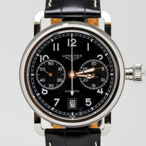 Longines Aviation Oversize Crown Single Push Piece Chronograph...