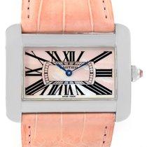 Cartier Tank Divan Xl Limited Edition Mop Dial Steel Watch...