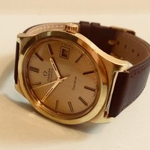 Omega Geneve gold cal 1012 Automatic vintage mens watch + box