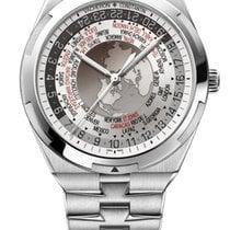 Vacheron Constantin Overseas World Time Steel 43.5mm Silver Arabic numerals United States of America, New York, New York