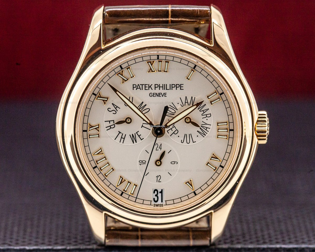 1d9a6842909 Patek Philippe 5035R-001 Annual Calendar 18K Rose Gold Silver... for  £16,847 for sale from a Trusted Seller on Chrono24