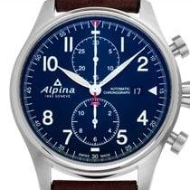 Alpina Startimer Pilot Automatic Stahl 44mm Blau Arabisch Deutschland, Stuttgart