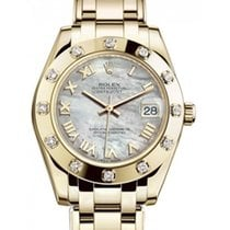 Rolex Pearlmaster Yellow gold 34mm Mother of pearl Roman numerals UAE, Dubai