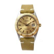 Rolex Datejust Turn-O-Graph Acero y oro 36mm Champán Sin cifras