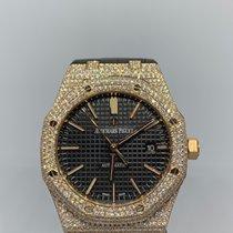 Audemars Piguet Royal Oak Selfwinding Pозовое золото 41mm Чёрный Без цифр