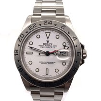Rolex Explorer II Çelik 40mm Beyaz Sayılar yok