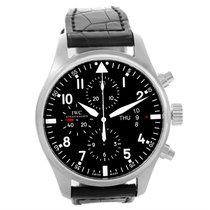IWC Pilot Black Dial Chronograph Automatic Mens Watch Iw377701