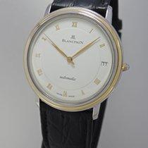 Blancpain Villeret Date Automatik Stahl-Gold - Box+Papiere+Ser...