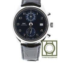 IWC Portuguese Chronograph Stål 42mm Blå Arabisk