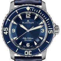 Blancpain Fifty Fathoms 5015-12b40-o52a New Titanium 45mm Automatic