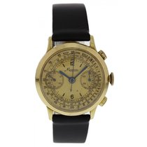 Minerva Chronograph Gold Toned Vintage Watch