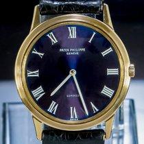 Patek Philippe Calatrava Gelbgold 34mm Violett Römisch