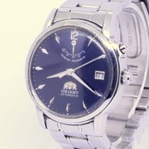Orient Rare Mens Vintage ORIENT power reserve automatic day EX09-CO Very good Steel 35mm Automatic