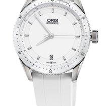 Oris Artix GT Date, Ceramic Top Ring, White Rubber Bracelet
