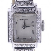 Benrus 16 Millimeters Silver Dial 14k Gold
