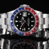 Rolex 16710 SS GMT-Master II w/ Pepsi Bezel & 40mm No Holes Case
