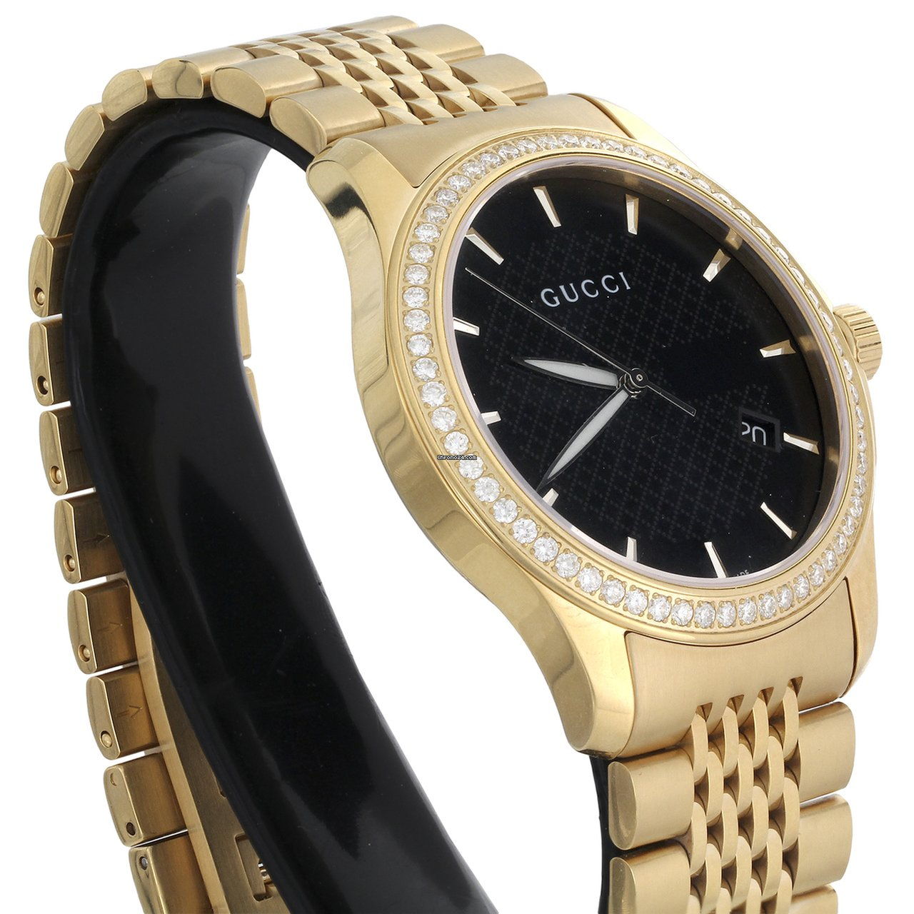 d86b57a311f Gucci Ya126402 Diamond Watch Black Dial 38mm Stainless Steel... for AU   2