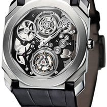 Bulgari Platinum Manual winding Transparent new Octo