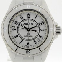 Chanel 38mm Automatik 2015 gebraucht J12 Weiß