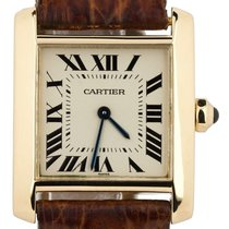 Cartier Tank Française Yellow gold 25mm Champagne Roman numerals United States of America, New York, Lynbrook