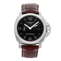 Panerai Luminor 1950 3 Days GMT Automatic Steel 44mm Black Arabic numerals