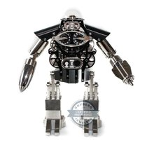 Mb&f Steel 303mm Manual winding Robot Clock pre-owned