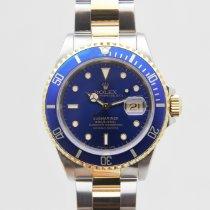 Rolex Submariner Date Gold/Steel 40mm Blue No numerals