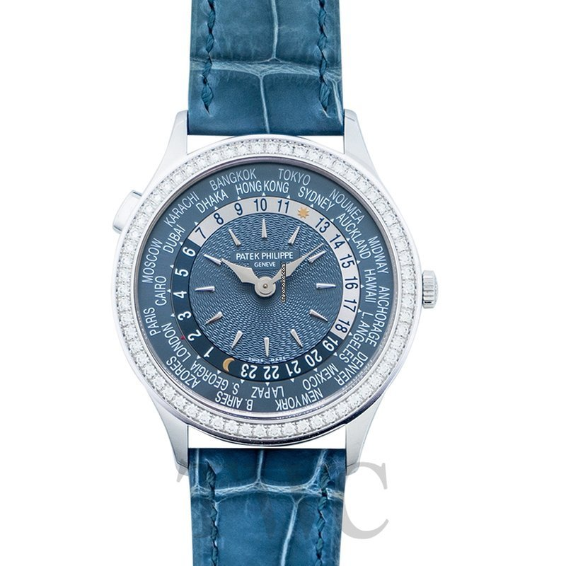 check out f6f66 6172e Patek Philippe Complications World Time Automatic Diamond Blue Dial Ladies