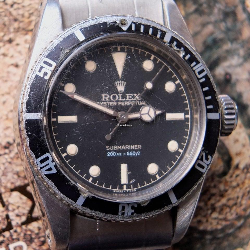 Rolex Submariner (No Date) 6538 Big Crown 1958 tweedehands