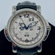 Ulysse Nardin Platinum Automatic Silver Arabic numerals 42mm pre-owned GMT +/- Perpetual