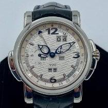 Ulysse Nardin GMT +/- Perpetual Platinum 42mm Silver Arabic numerals