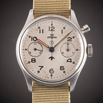 Lemania First Series Reissued with White MOD Dial Vintage 1945 brukt