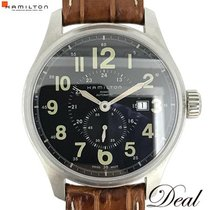 Hamilton Khaki Field Officer pre-owned 42mm Black Leather