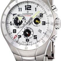 Candino Chronograph 44mm Quarz neu Silber