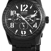 Guess Punched Day-Date Herrenuhr Quarz W15073G1