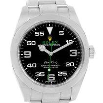 Rolex Oyster Perpetual Air King Black Dial Steel Mens Watch...