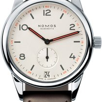 NOMOS Club Datum Steel 38.5mm White United States of America, New York, Airmont