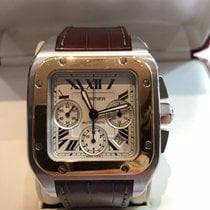 Cartier Santos 100 CHRONO OR/AC