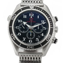 Omega Seamaster Planet Ocean Chronograph Steel 46mm Black Arabic numerals