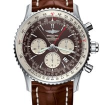 Breitling Navitimer Rattrapante Acero 45mm Marrón